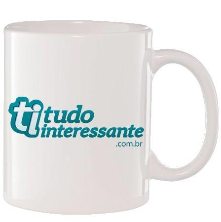 Caneca de Porcelana Tudo Interessante.com.br