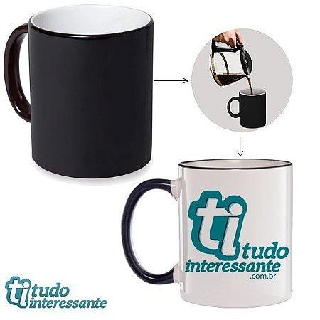 Caneca Mágica Tudo Interessante - Logo