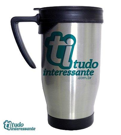Caneca Térmica Tudo Interessante - Logo