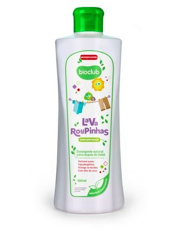 Detergente Líquido Lava Roupas Bioclub Baby 500 ml