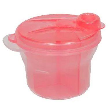 Porta formula leite em pó Rosa - Buba