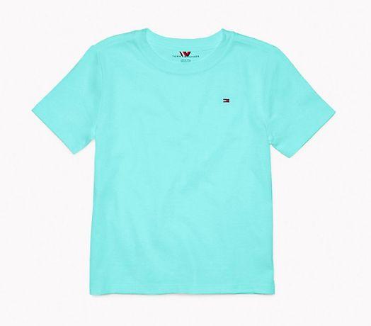 Camiseta algodão Azul Piscina - Tommy Hilfiger