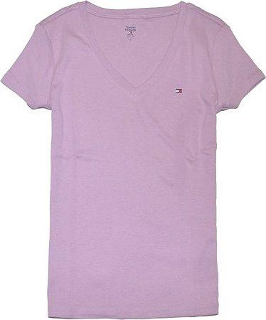 Camiseta algodão Lilás - Tommy Hilfiger