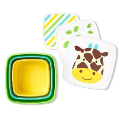 Kit com 3 potes girafa ZOO - Skip Hop