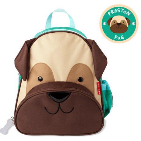 Mochila Cachorro Pug - Skip Hop personalizada com nome