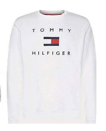 Moletom Básico Logo Branco - Tommy Hilfiger