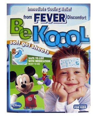Gel adesivo BEKOOL para combate a febre e dor de vacinas - FRETE GRATIS