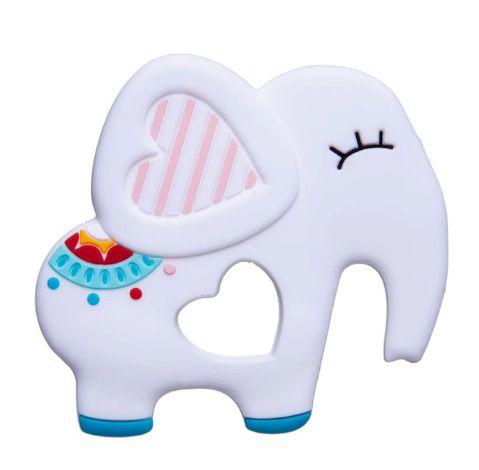 Mordedor de Silicone Elefante Branco Girotondo Baby