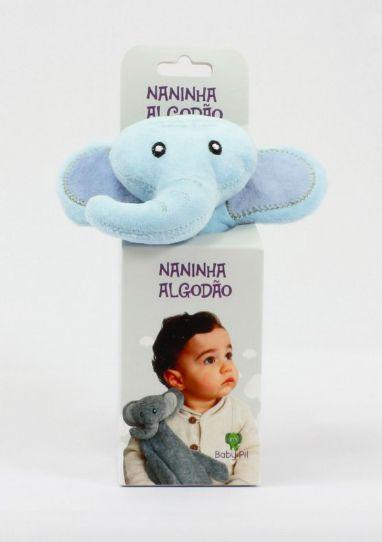 Naninha Algodão Elefante Azul - Baby Pil