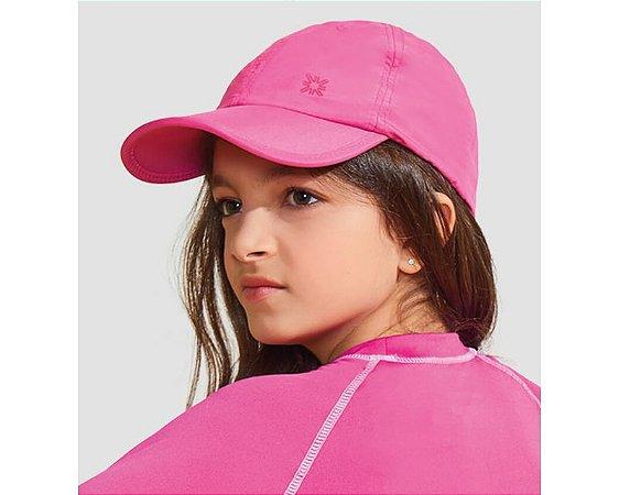 Boné Kids com Proteção Solar Pink - UV LINE