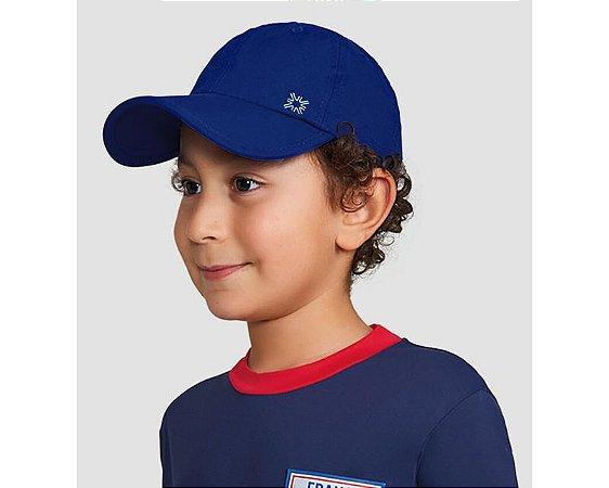 Boné Kids com Proteção Solar Marinho - UV LINE
