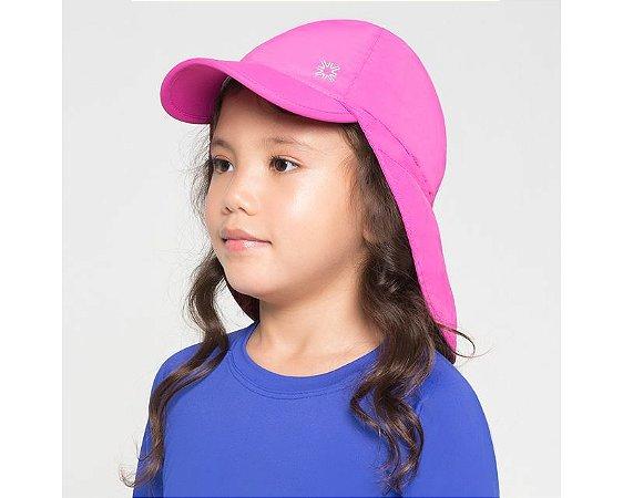 Boné Australiano com Proteção Solar Pink -  UV LINE