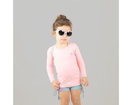 Camiseta com Proteção Solar Nina Rosa Claro - UV LINE