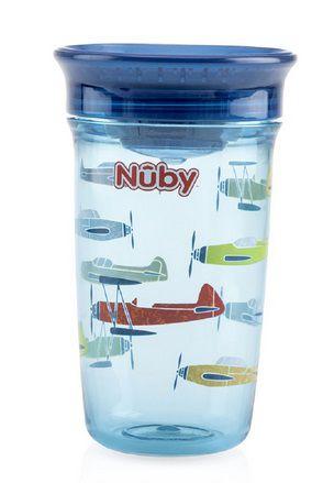 Copo Tritan 360º Azul Avião 300ml - Nuby