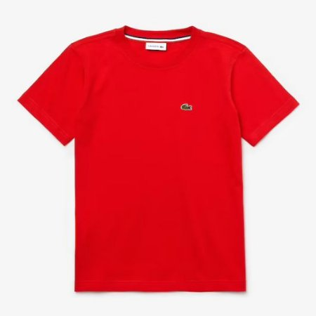 Camiseta Infantil Vermelha - Lacoste