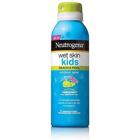 Protetor Solar Neutrogena Wet Skin Kids Spray