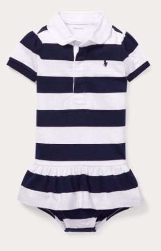 Vestido algodão Ralph Lauren Navy