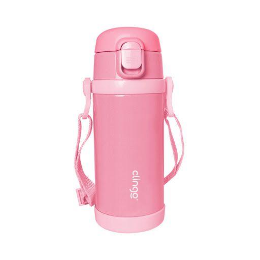 Garrafa Termica Premium Clingo 355ml Rosa