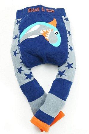 Meia calça de lã Blade and Rose  tubarão personalizado com nome
