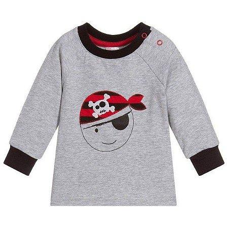 Camiseta manga longa blade and rose pirata 6-12meses