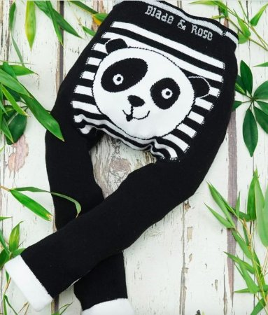 Calça legging de lã Orgânico Blade and Rose Panda personalizado com nome