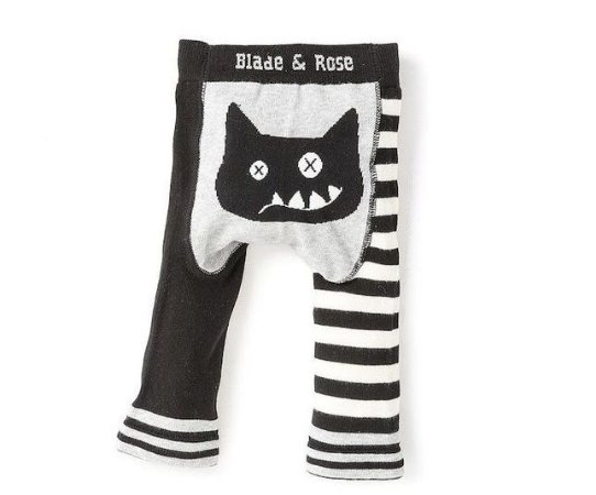 Meia calça lã Blade and Rose gato maluco personalizado com nome