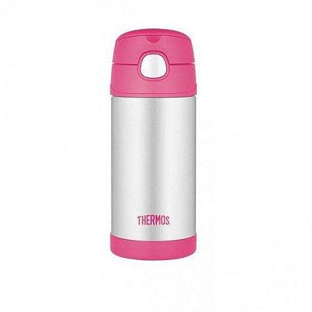Garrafa térmica Thermos inox rosa 355ml