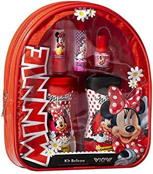 Mochila Minnie com kit maquiagem