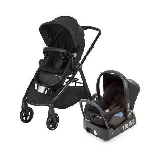 Carrinho de Bebê com Bebê Conforto Anna Nomad Black by Maxi-Cosi