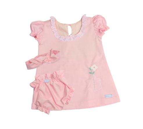Roupa Infantil Metoo Rosa personalizada com nome