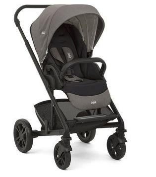 Carrinho de bebe Chrome preto cinza JOIE