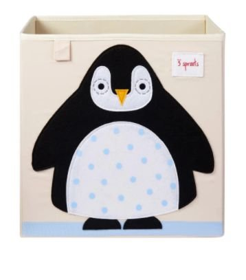 Cesto Organizador Quadrado Pinguim 3 Sprouts