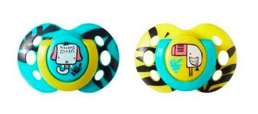 Chupeta Fun Style Tommee Tippee 2 Und 6-18M - Verde com Amarelo