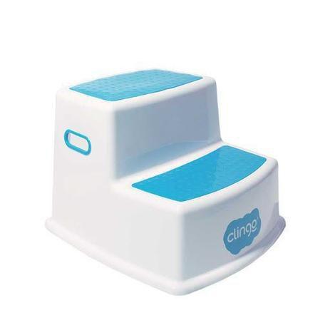 Escadinha para Higiene com 2 Degraus Rosa - Clingo