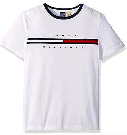 Camiseta bandeira branca - Tommy Hilfiger