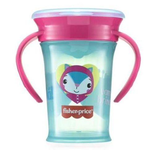 Copo de Treinamento 360 First Moments Rosa Candy Fisher Price