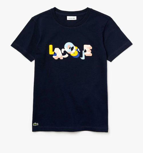 Camiseta Infantil Estampada Marinho - Lacoste