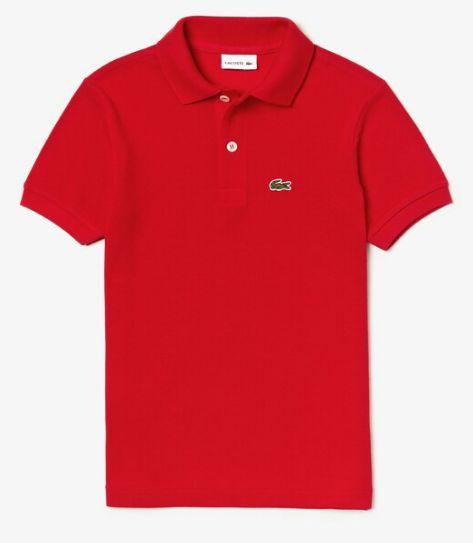 Polo Infantil Vermelha - Lacoste