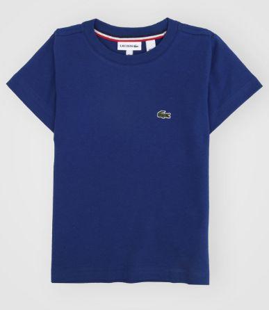 Camiseta Infantil Azul Petróleo - Lacoste