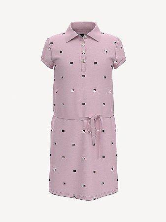 Vestido logo rosa - Tommy Hilfiger