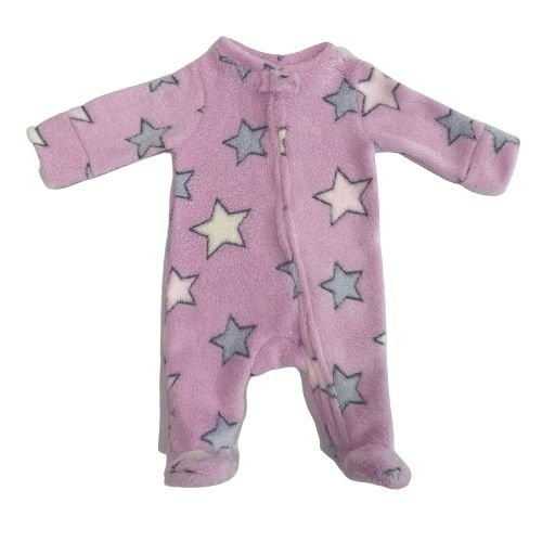 Macacão fleece rosa estrelas - Welpie