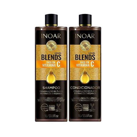 Kit Inoar Coleção Blends Shampoo e Condicionador Litro