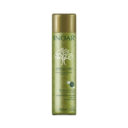 Spray Secante para Esmaltes Inoar Argan Speed Dry 400ml
