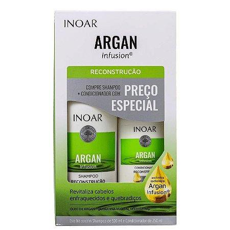 Kit Inoar Argan Infusion Reconstrução Shampoo 500ml e Condicionador 250ml