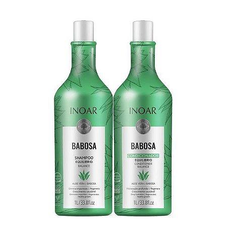 Kit Inoar Babosa Shampoo e Condicionador Litro