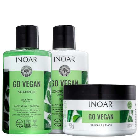 Kit Inoar Go Vegan Equilíbrio Shampoo, Condicionador e Máscara