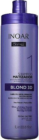 Shampoo Matizador Inoar Oxyfree Blond 3D 1000ml