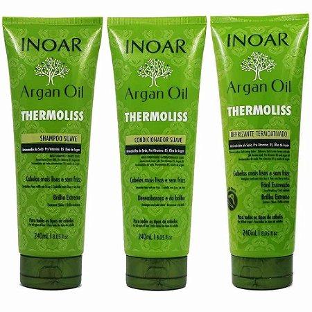 Inoar Argan Oil Thermoliss Kit (3 Produtos)