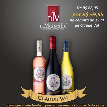 PROMOÇÃO - Caixa c/ 12 unidades de Paul Mas Claude Val (Blanc, Rosé ou Rouge)