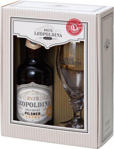 Kit Cerveja Leopoldina Pilsener 500ml + 1 taça